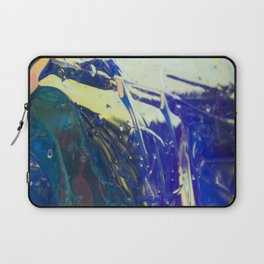 Abstract sunrise - orange, blue and yellow - Laptop Sleeve