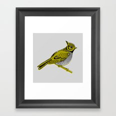 Crested Tit Framed Art Print