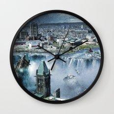 Earth Falls Away Wall Clock