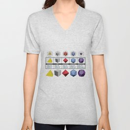Platonic Solids  Unisex V-Neck