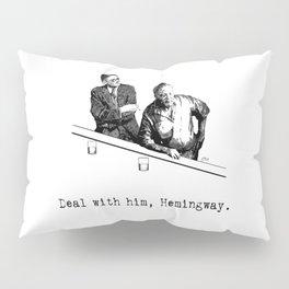 James Joyce x Ernest Hemingway - Drunken Shenanigans Painting Pillow Sham