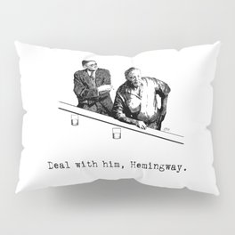 James Joyce x Ernest Hemingway - Drunken Shenanigans Painting Pillow Sham