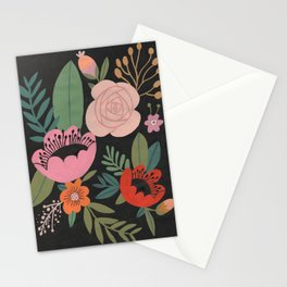 Floral Guache Stationery Cards
