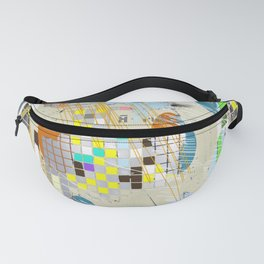 Grid Alignment Fanny Pack