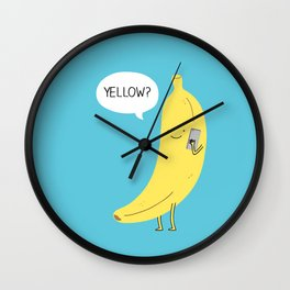 Banana on the phone Wall Clock