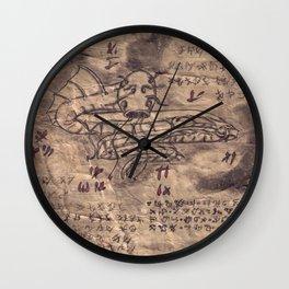 Book of Nightmares Sky Serpent Wall Clock