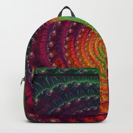 Rainbow Wave - Fractal Art  Backpack