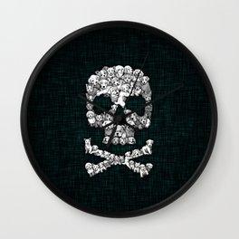 Skull Dogs Halloween Wall Clock