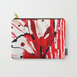 BUTTERFLY Red and White Glowing Carry-All Pouch