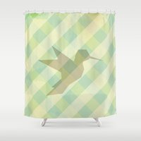 origami Shower Curtains featuring Origami by Mr and Mrs Quirynen