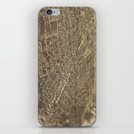 Vintage Pictorial Map of Chattanooga (1886) iPhone Skin