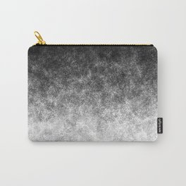 Disappearing Fog - Black and White Gradient Carry-All Pouch