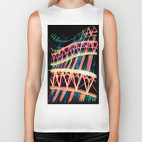 industrial Biker Tanks featuring NEON INDUSTRIAL by JESSIE WEITZ