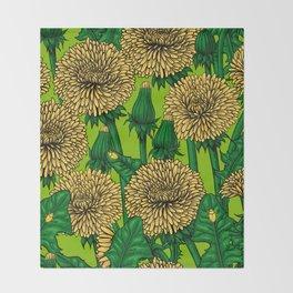 Dandelions Throw Blanket