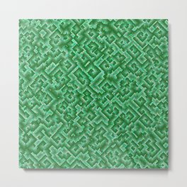 Complexity in green Metal Print
