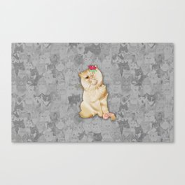 Peaches Revision Canvas Print