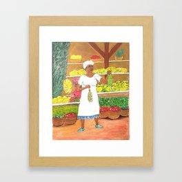 Jamacian Market Framed Art Print