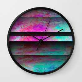 Turquoise Color Blinds Wall Clock