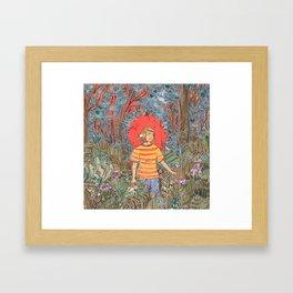 Past The Grove Framed Art Print
