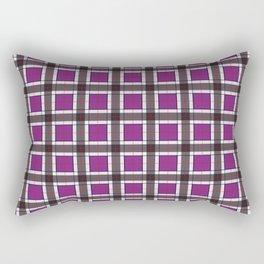 Purple Plaid Pattern Rectangular Pillow