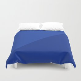 Two Tone in Blue Duvet Cover