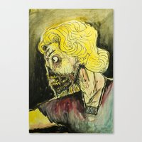 zombies Canvas Prints featuring zombies by Marcelo O. Maffei