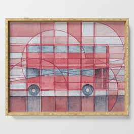 London - Double Decker Red Bus Serving Tray