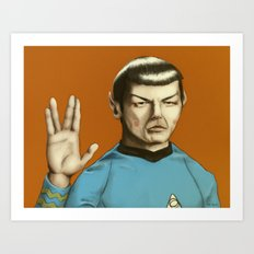 Mr. Spock Art Print