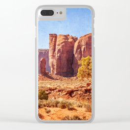 Most Interesting View of Monument Valley Clear iPhone Case