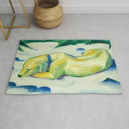 """Franz Marc """"Dog Lying in the snow"""" Rug"""
