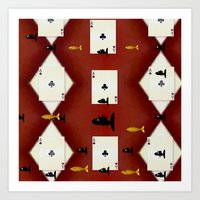poker Art Prints featuring Poker Sharks by Pepita Selles