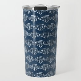 Wabi Sabi Arches in Blue Travel Mug