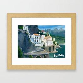 Positano Day Framed Art Print