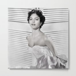 Dorothy Dandridge, Hollywood Starlet black and white photograph / black and white photography Metal Print