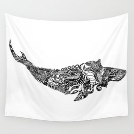 Whale drawing by Floris V Wall Tapestry
