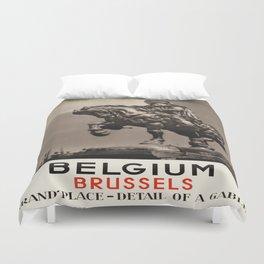 Vintage poster - Brussels Duvet Cover