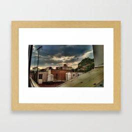 Mexican favela Framed Art Print