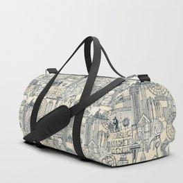 Seattle indigo cream Duffle Bag