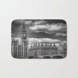 LONDON Big Ben & Red Bus Bath Mat
