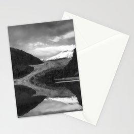 Glacier Mendenhall Juneau, Alaska BW Stationery Cards