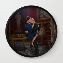 comfort before confession Wall Clock