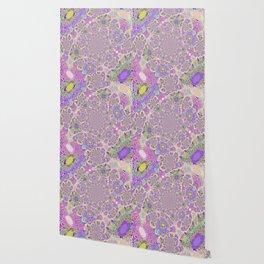 Pretty Lavender Garden Wallpaper