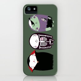 happy monster friends iPhone Case