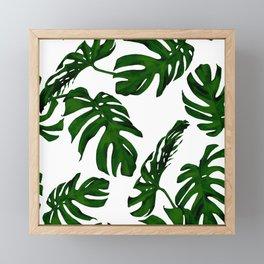 Simply Tropical Palm Leaves in Jungle Green Framed Mini Art Print