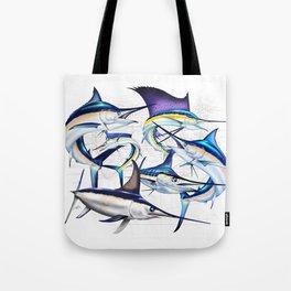 Pacific Billfish Slam Marlins,Sailfish,Swordfish,Spearfish Tote Bag