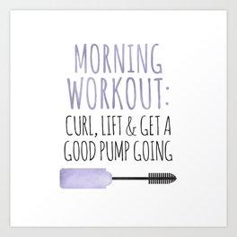 Morning Workout Art Print