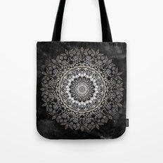 GOLD FLORAL MANDALA Tote Bag