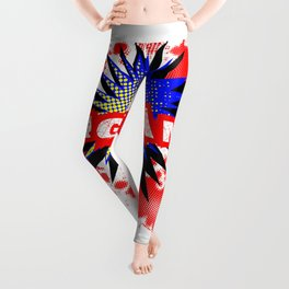 England Comic Exclamation Leggings