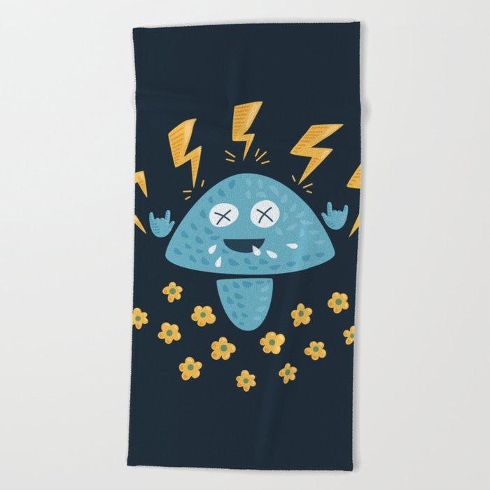 Heavy Metal Mushroom Beach Towel