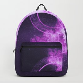Female homosexuality symbol. Lesbian glyph. Doubled female sign. Abstract night sky background Backpack